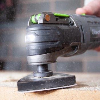 sanding wood with multi tool