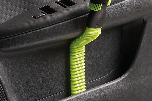 Use the Gtech Multi's attachments to clean car interior