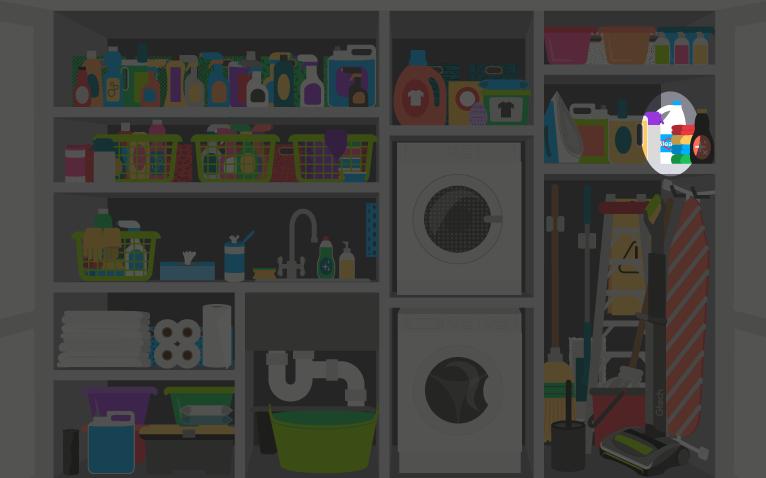 Bleach in the utility cupboard - reveal