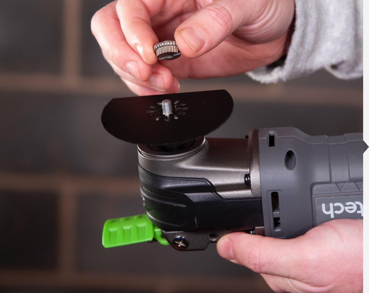 Cordless multi-tool attachments