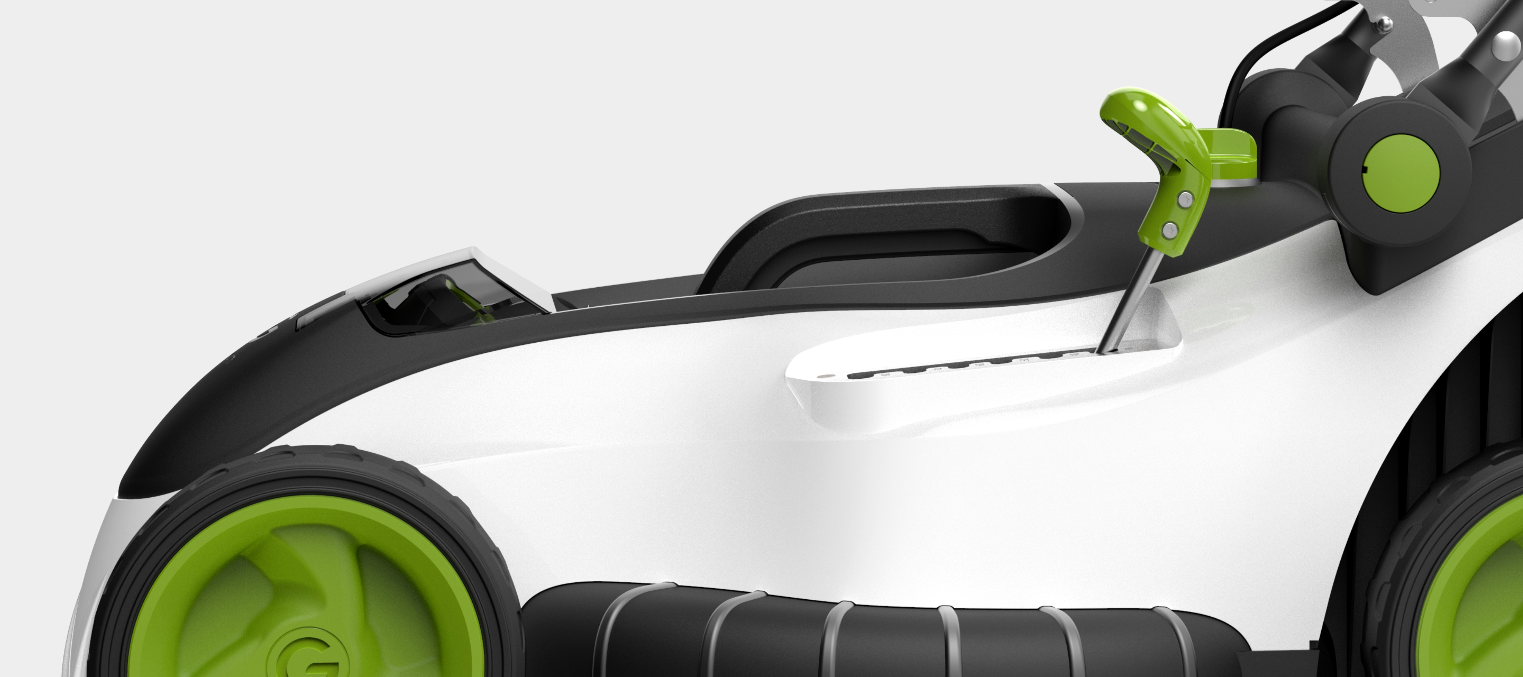 Battery powered mower high performance blade