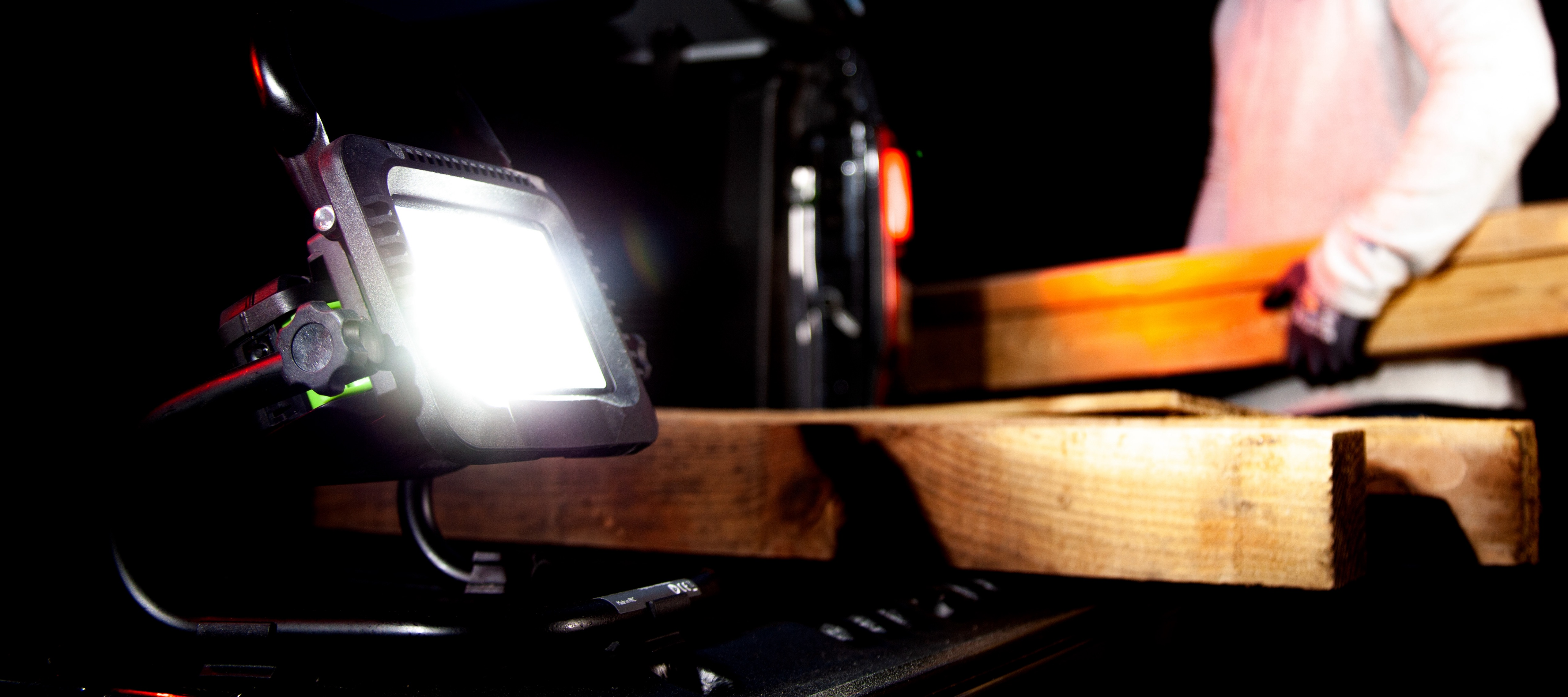 Cordless flood light