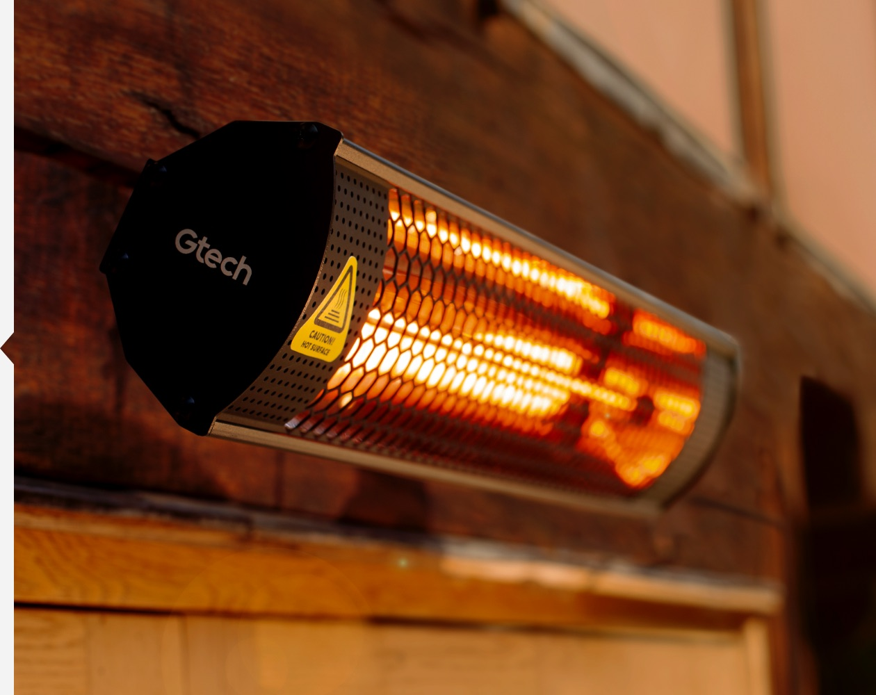 Compact electric patio heater