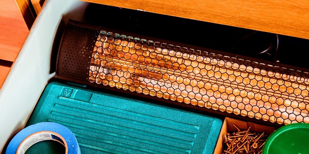 Garden heater easy storage