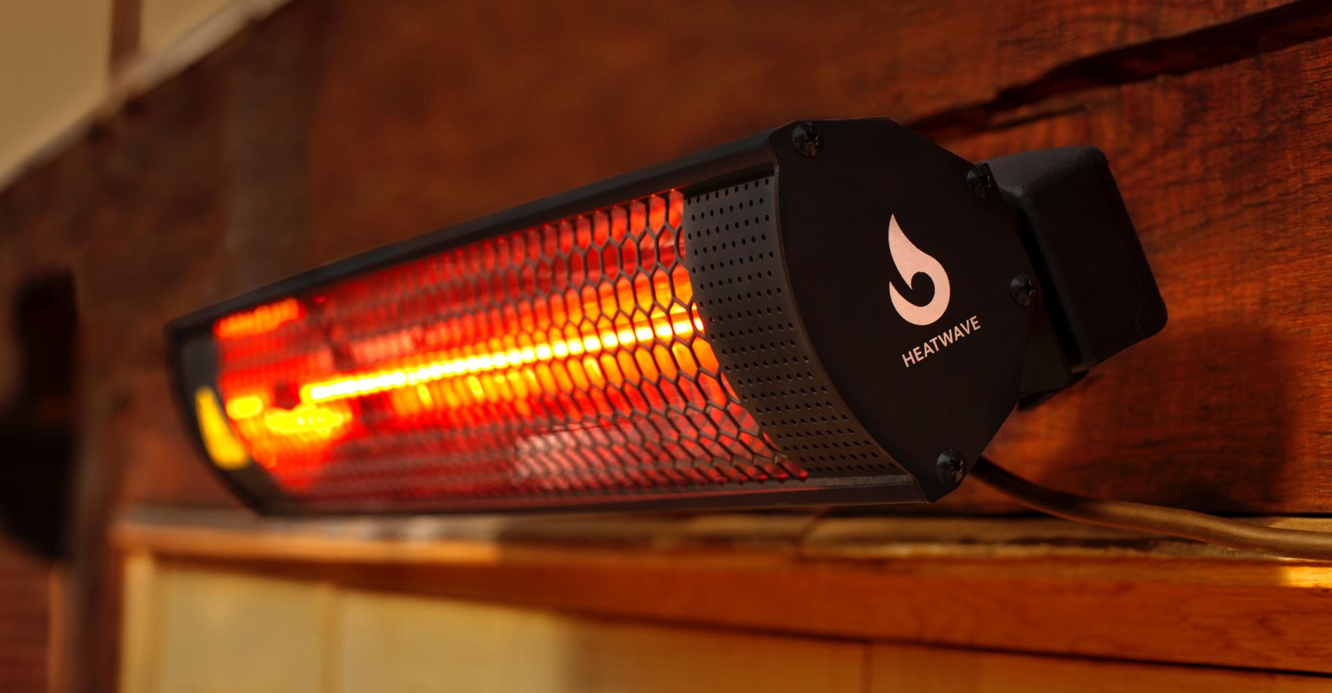 Heatwave patio heater all year round warmth