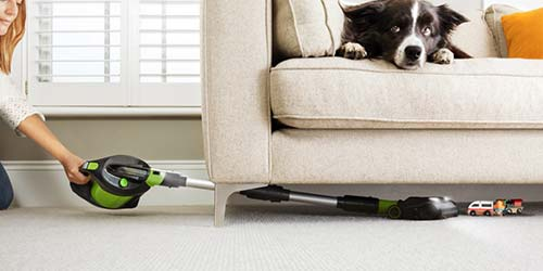 Pro 2 bagged vacuum cleaner under furniture